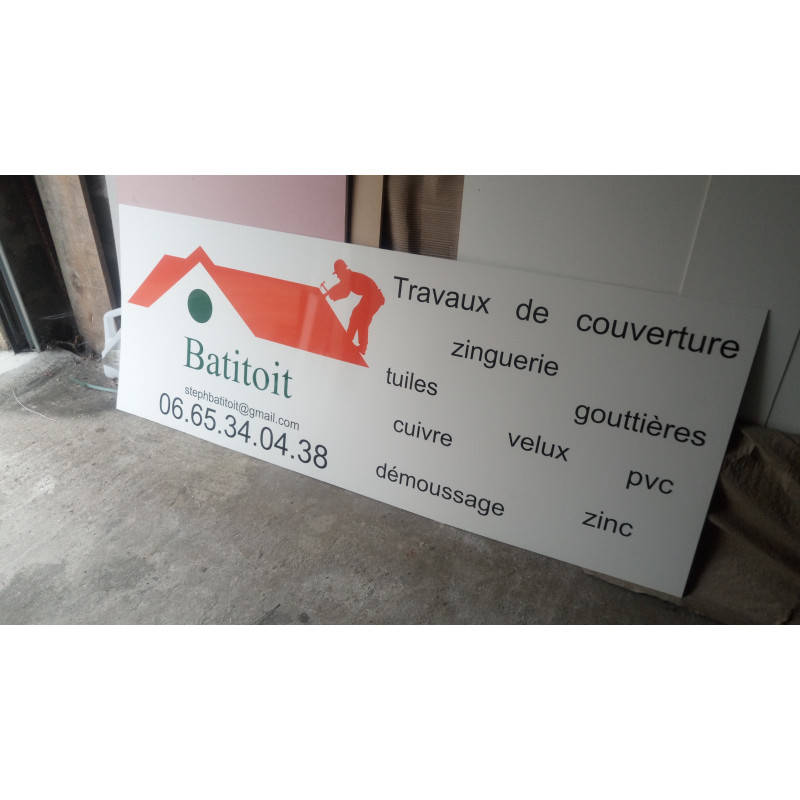 Réalisation d'un panneau de signalisation en PVC 2 mm