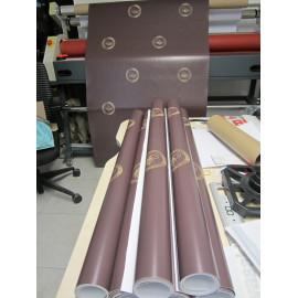 Impressions de 8 bâches de dimension 230x95 cm pour un salon